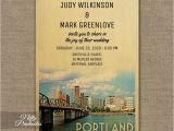 Wedding Invitations Portland oregon Portland oregon Wedding Invitation Printed Nifty Printables