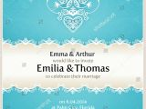 Wedding Invitations with Doves Blue Wedding Invitation Design Template Doves Stock Vector