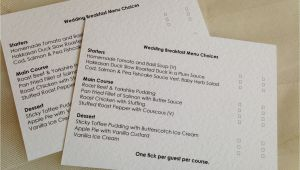 Wedding Invitations with Menu Choices Menu Rsvp Cards and Envelopes Wedding Stationery