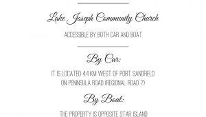 Wedding Invite Directions Template Wedding Invitation Directions Card Wedding Reception