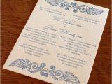 Wedding Invite Language Bilingual Letterpress Wedding Invitation Design theodora