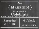 Wedding Party Invitations after Getting Married Post Wedding Reception Invitations Templates