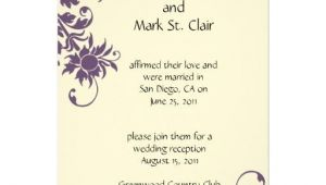 Wedding Reception Invitation Wording Already Married Wedding Invitation Wording Wedding Invitation Wording