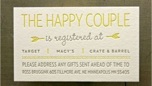 Wedding Registry Cards for Invitations Registry Cards for Wedding Etiquettes to Follow