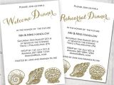Wedding Welcome Party Invitation 10 Wedding Dinner Invitations Free Sample Example