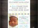 Welcome Home Baby Shower Invitations Wel E Home New Baby Shower Invitations by Papertalescustom