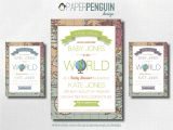 Welcome to the World Baby Shower Invitations Items Similar to Wel E to the World Baby Shower