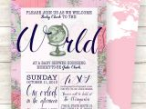Welcome to the World Baby Shower Invitations Pink Wel E to the World Baby Shower Invitation