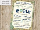 Welcome to the World Baby Shower Invitations Wel E to the World Baby Shower Invitation Baby Boy or Baby
