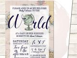 Welcome to the World Baby Shower Invitations Wel E to the World Baby Shower Invitation Printable Baby