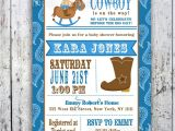 Western Baby Shower Invites Lil Cowboy Baby Shower Invitation Custom Printable