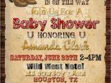 Western Baby Shower Invites Western Baby Shower Ideas Baby Ideas