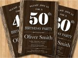 Western Birthday Invitations for Adults 50th Adult Birthday Invitation Wood Texture Western
