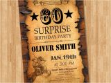 Western Birthday Invitations for Adults 60th Birthday Invitation Western Birthday for Men Adult
