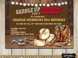 Western Birthday Invitations for Adults Western Invitations Cowboy S Party Western Party Cowboy