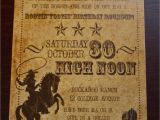Western Birthday Invitations for Adults Western Party Invitations