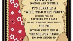 Western Party Invitation Template Cowboy Invitations Template Best Template Collection