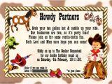 Western Party Invitation Wording Cowboy Birthday Invitation Ideas Bagvania Free Printable