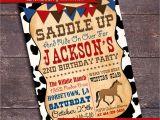 Western Party Invitation Wording Printable Cowboy Party Invitation Western by Bloomberrydesigns