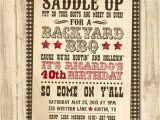 Western Party Invitation Wording Western Bbq Birthday Printable Birthday Party Invitation
