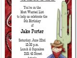 Western Party Invitation Wording Western Most Wanted Cowboy Party Invitation Western