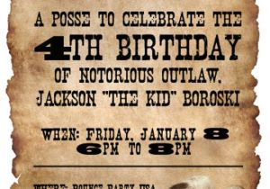 Western theme Party Invitation Template 20 5×7 Wanted Poster Western themed Birthday Party by