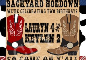 Western theme Party Invitation Template Printable Backyard Hoedown Party Invitations Red