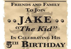 Western theme Party Invitation Template Wanted Poster Cowboy Western theme Birthday Party