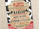 Western theme Party Invitation Template Western Invitation Free Template
