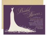 What to Put On A Bridal Shower Invite Bridal Shower Invitation Elegant Wedding Gown Zazzle Com