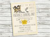Where the Wild Things are Birthday Invitation Template where the Wild Things are Birthday Invitation