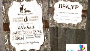White Camo Wedding Invitations White Camo Deer Wedding Invitation and Rsvp Card by Mrsprint