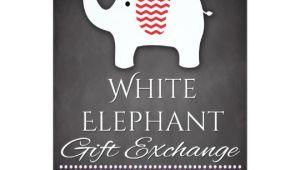 White Elephant Gift Exchange Party Invitations White Elephant Invitation Gift Exchange Invite Zazzle Com