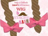 Wig themed Party Invitations 1000 Images About Wig Mustache Party Ideas On Pinterest
