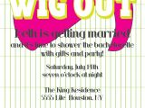 Wig themed Party Invitations Items Similar to Wig Out theme Party Invite On Etsy
