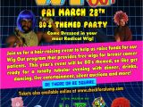 Wig themed Party Invitations Karma event Lighting for Weddings and Special events