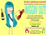Wig themed Party Invitations Personalized Wig theme Bachelorette Party Invitations