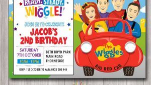 Wiggles Birthday Invitation Template Custom Printable Birthday Invitation Any Age 1st Birthday