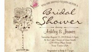 Wine and Cheese Bridal Shower Invites Wine & Cheese Bridal Shower Invitation