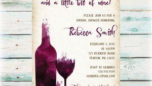 Winery Bridal Shower Invitations Diy Wine Party Bridal Shower Invitation Digital File