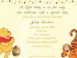 Winnie the Pooh Baby Shower Invitations Templates Free Classic Winnie the Pooh Baby Shower Invitations