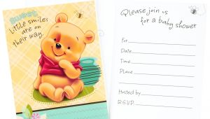 Winnie the Pooh Baby Shower Invitations Templates Free Winnie the Pooh Baby Shower Invitations Templates Free