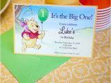 Winnie the Pooh Invites 1st Birthday 1st Birthday Invitations