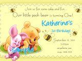 Winnie the Pooh Invites 1st Birthday Winnie the Pooh 1st Birthday Invitations Printable