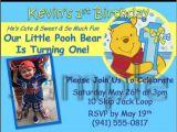 Winnie the Pooh Invites 1st Birthday Winnie the Pooh Custom Birthday Invitation