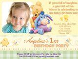 Winnie the Pooh Invites 1st Birthday Winnie the Pooh Invitations for 1st Birthday
