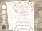 Winter Baby Girl Shower Invitations Girl Winter Wonderland Invitation Winter Baby Shower