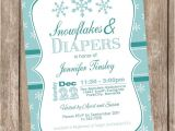 Winter Baby Girl Shower Invitations Items Similar to Snowflake Baby Shower Invitation Winter