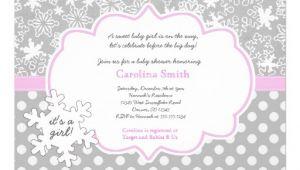 Winter Baby Girl Shower Invitations Personalized Winter Wonderland Invitations