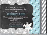 Winter Baby Girl Shower Invitations Winter Wonderland Baby Shower Invitations
